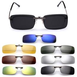 Clip polarizado de los vidrios de conducción online-Clip polarizado en gafas de sol Hombres que conducen la lente de la visión nocturna Lentes de sol masculinos Anti-UVA para mujeres Hombre Oculos