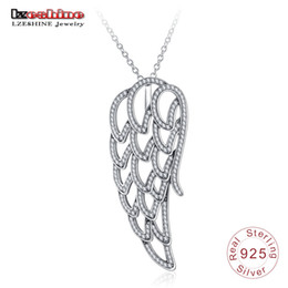 Wholesale b 925 china - 925 sterling silver creative personality eagle wing diamond necklace pendant factory direct PSNR 0016 - b