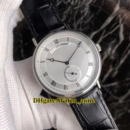 Canada Nouvelle marque pas cher Classique Heritage 5907BB / 12/984 automatique mouvement cadran blanc Mens Watch Silver Case cas bracelet en cuir Montres supplier cheap watch movement Offre