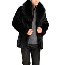 Wholesale Women Fur Hooded Coats - Wholesale- 2017 Winter Autumn Men Women Unisex Faux Leather Solid High Quality Fashion Warm Artificial Fur Coat Winter Jacket 2017