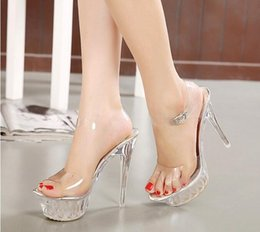0fc99f3edd New fashion sandals casual shoes, heel height 14 cm. wedding shoes silver diamond  high heel shoes shoes big size 35-43,e18 discount 14 cm shoes