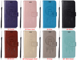 Canada Étuis en cuir gaufrés en cuir pour cloche à vent et hibou pour Samsung S9 S8 Note 9 et iPhone X XR XS Max 6 8 Plus Offre