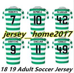 Wholesale celtic kits - 18 19 Home Soccer Jersey Away Short sleeve soccer jersey Celtic Griffiths dembele Sinclair Rogic McGregor Roberts Football Shirt Kit Maillot