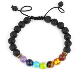 Buddha Armband Herren Lava Natur Stein Frosted Perlen Armbänder Damen Geschenk
