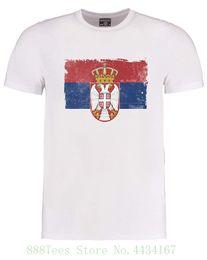 ebb5da766d Serbian Flag Serbia National Pride Country Symbol Men's T shirt Men T Shirt  100% Cotton Print Shirts