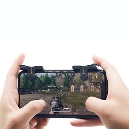 Wholesale Button Phones - C9 1 Pair Mobile Fire Button Aim Key for PUBG Game Rules of Survival Smart phone Mobile Gaming Trigger L1R1 Shooter Controller 50PAIR LOT