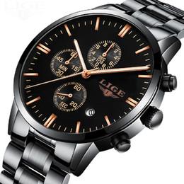 Wholesale chronograph pilot watch - Men's Watch Luxury Brand Chronograph Men Sports Watches Full Steel Quartz Watches Men Pilot Multi - Function Watch With Box