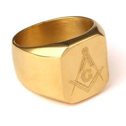 2019 anéis freemasons Freemasons Hip-hop anel ornamentos Anel de aço inoxidável Jóias masculina desconto anéis freemasons
