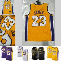 Wholesale ball jerseys - 2018 New Los Angeles Jersey Laker 23 LeBron James 2 Ball 0 Kuzma Lakers Basketball Jerseys The City Whish Embroidery Logos 100% Stitched