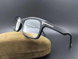 Óculos ópticos on-line-Hot Designer de Óculos de Armação Homens Óculos Ópticos Óculos de Armação Marca Miopia Quadros de Moda RetroTF5146 Itália Marca Óculos com Caso