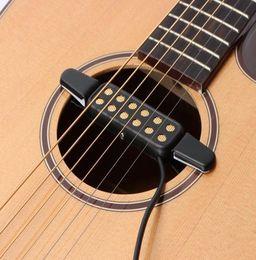 Guitarra con agujero de sonido online-Profesional Clásico Guitarra acústica Pickup Transductor Amplificador Guitar Pickup Sound Hole Instrumentos musicales Pickup para Guitarra