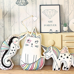 Wholesale Horse Plush Doll - Cute Horse Plush Toys Decorations Hippocampus Unicorn Cat Toy Pillow Photo Children Room Layout Stuffed Doll Mats