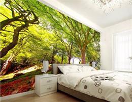 papel de parede cênico Desconto Personalizado 3d mural papel de parede New scenic woods 3d fundo estereoscópico pavimentou a sala de estar sofá 3d foto papel de parede