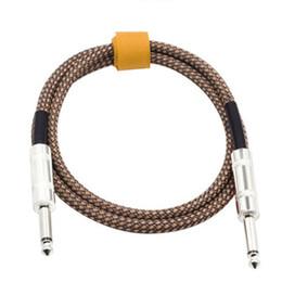 Connecteurs électriques pour le câblage en Ligne-Câble de connecteur audio pour guitare électrique 6.35mm Mono mâle vers mâle 3m Câble de guitare électrique basse ballade