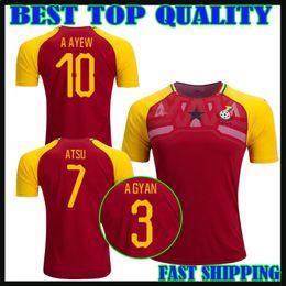 Wholesale Custom Cotton Shirts - 2018 ghana soccer jersey 18 19 national team AMARTEY HARRISON A AYEW BABA J AYEW ESSIEN ATSU A GYAN football shirts maillot de foot custom