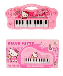 Wholesale electronic piano organ - Hello Kitty Electronic Organ Multi-functional Piano Education Toy Musical Instrument Stall Hot Sale Toys Free DHL