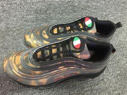 Wholesale shoes uk man - New Arrived 97 Country Camo OG WHITE 3M Sports Running Shoes for International US DE IT CN UK Men Women 97s Jogging 97s Sneakers EUR 36-46