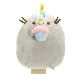 Wholesale anime dolls for sale - New Arrival Hot 15cm Cute Pp Cotton Pusheen Cat Eat Cake Plush Soft Stuffed Doll Toy for Kids Toy for Gift 2018 on Sale