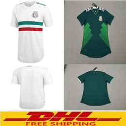 Wholesale Wholesale Jersey Shorts - DHL free shipping 2018 World Cup Mexico Green white Soccer Jersey 2018 Mexico home away soccer jersey welcome to order