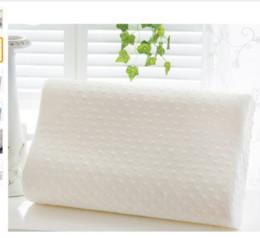 Wholesale White Crochet Pillow - Memory foam pillow care new 3 colors Orthopedic Latex Neck Pillow Fiber Slow Rebound Memory Foam Pillow Cervical Health Care