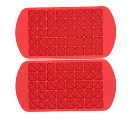 grid mold silicone Promo Codes - Kitchen Dining Bar hot 160 Grids triangle DIY Small Ice Cube Mold Silicone Ice Tray Cube Maker Fruit Ice Cube Maker Bar Kitchen Accessories