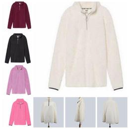 Wholesale Half Jackets Girls - Women Sherpa Hoodie Autumn & Winter Fashion New Slim Sweatshirt half Zipper Fleece Jacket Coats 5 color LJJK919