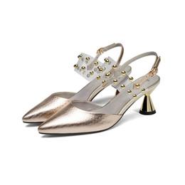 Wholesale transparent rivet high heels - Fashion, sandals, women's high heels, summer new style, rivets, transparent film, temperament, head wrap, women's shoes