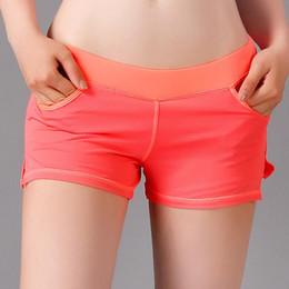 ropa falsa Rebajas Pantalones cortos de yoga para mujeres Secado rápido Deportes respirables Correr Fitness Pantalones cortos de yoga yoga polainas pantalones de entrenamiento Ropa de entrenamiento False Two