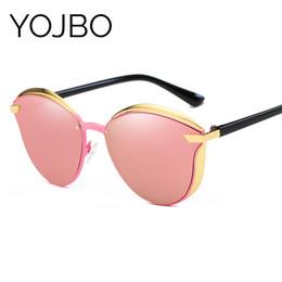 gafas de sol de bloque Rebajas YOJBO Marca Original Gafas de Sol Polarizadas Mujeres Bloqueando Resplandores Protección UV Señoras Gafas de Sol Diseñador de Espejo de Las Mujeres D18102406