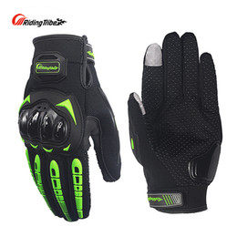 Wholesale Summers Motorcycle Gloves - Summer Cycling Moto Gloves Touch Screen Breathable Protective Gear Non-skid Motorcycle Racing Guante MCS-17