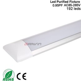 Luces de tubo plano led online-Tubo de luz led 4 foots 1200mm 36W Soporte plano led Tri-prueba de luz alta brillante