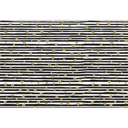 Fotos de amor blanco negro online-Corazones de amor de oro impresos Fondo de rayas blanco y negro para Photo Studio Día de San Valentín Niños Fotografía de niños Telones de fondo