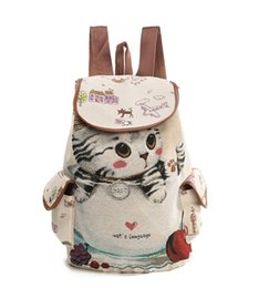 Wholesale Hot Pussy - Hot pussy cat love book female Canvas Shoulder Bag with lovely jacquard embroidered knapsack