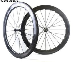 2019 etiquetas da roda de carbono da bicicleta da estrada Velosa NSW 454 bicicleta rodado de carbono, 58mm profundidade 25mm largura clincher / tubular 700C roda de bicicleta de estrada, super leve, adesivo personalizado desconto etiquetas da roda de carbono da bicicleta da estrada