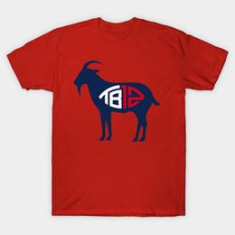 Wholesale Goat Fashion - Tom brady TB12 Goat T-Shirt