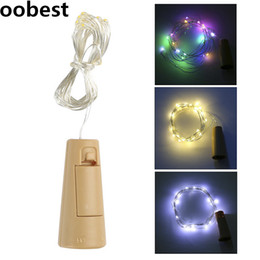 fancy lights bulbs Coupons - oobest 1x Win1x Wine Bottle Stopper Glass Night String lights for Wedding Home Indoor Decor Artware Fancy Fairy Lights 2M 20 LED