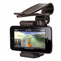 Wholesale iphone sun visor - Universal Car Mobile Phone holder Auto Clip 360 Rotation Car Sun Visor Clip Holder Mount Stand For iPhone