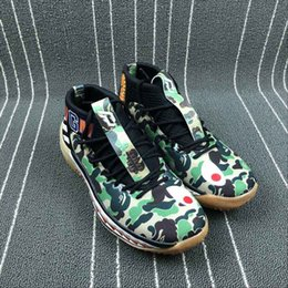 Wholesale Shark Rubber - 2018 Dame 4 Shoes Camo Pack footwear shark black camouflage green apes Sneakers for Men &Women Wholesale Dame Lillard Basketball Shoes