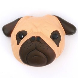 Pães cachorros on-line-Kawaii Squishy Dog Face Bread Soft Slow Rising Pendant Phone Straps Stretchy Squeeze Cream Scented Cake Kid Toy Gift