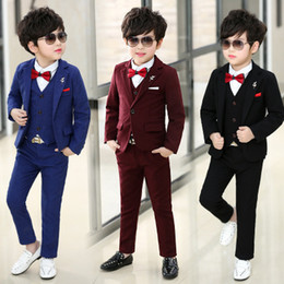 Wholesale Jacket Shopping - 2018 Spring Summer New Boys Small Suits Four Pieces Jackets,Pants,Vests,Blouches Four-piece Boys Dresses More Styles Shop Selection