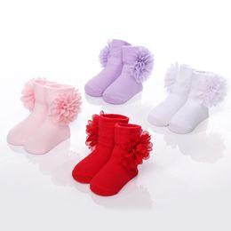Wholesale Shoes For Dresses Girls - beautiful newborn baby girls socks wedding lace socks for kids princess dress shoes socks infant 0-6 months