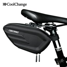 Wholesale cycling bike seat - CoolChange Bicycle Saddle Bag Waterproof MTB Bike Rear Bag Reflective Cycling Rear Seat Tail Large Bike Accessories