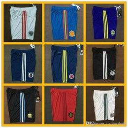 Wholesale Germany National - for Spain Football shorts 2018 World Cup national team Russia soccer shorts Argentina ball shorts Russia Germany special football shorts.