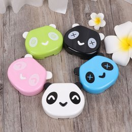 2019 augenpflege tropfen Kontaktlinse Box Kunststoff Niedlichen Panda Fall Reise Tragbare Gläser Augenpflege Kits Drop Shipping # rabatt augenpflege tropfen