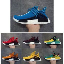 Wholesale family fabrics - Human Race NMD Shoes Family Friends Purple Harrell Williams New Arrival West Boost Sport Sneakers Fashion Men Women Running Shoes With Box