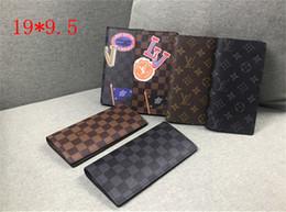 Portafoglio Bifold Portafogli in pelle di lusso Portafoglio porta carte lungo da donna Porta monete Portafoglio classico di lusso con scatola da