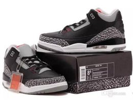 Wholesale Basketball Wolf - free shippment 3 black cement 3s white cement 3 OG True Blue 3 Men Basketball Shoes 3s wolf grey Sports sneakers mens trainer