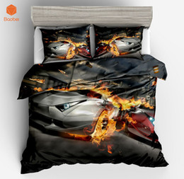 2019 постельное белье 3pcs Car Sports car Pinted 3D  Duvet Cover Set Bedding set With Pillowcase for Adults KidsTwin Full Queen King Size sj208 дешево постельное белье