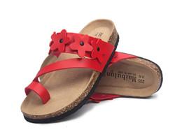 2018 nouvel été plage pantoufles de liège occasionnels double boucle sabots glissières femmes Slip on Flip Flop chaussures taille 35-40 ? partir de fabricateur