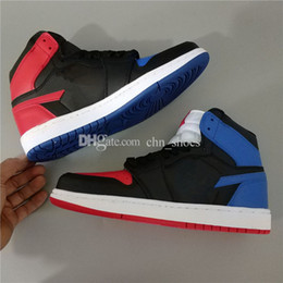 Wholesale Cutting Photos - Top Quality 1 Mens Basketball Shoes 3 in 1 Red Blue White Black Navy Real Photos Size US7-13 Eur40-47 Free Shipping